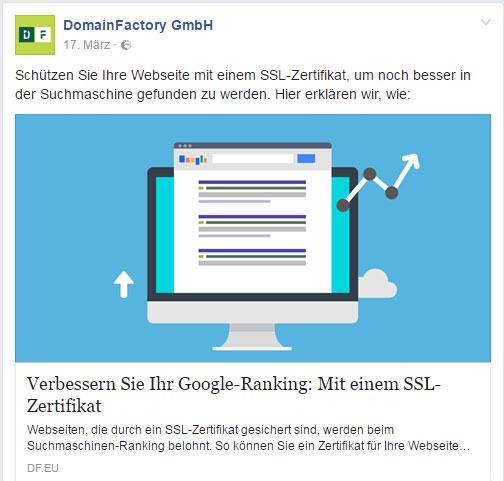 domainfactory ssl werbung