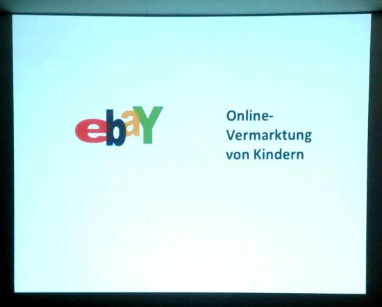 ebay Onlinevermarktung von Kindern