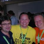 Frank Doerr, Karl Kratz und der SEO Leo beim SEOday 2012