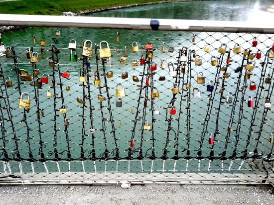 Liebesschlösser Salzburg Markartsteg