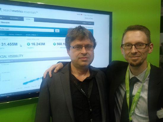 Marcus Tober zeigt Loewenherz die searchmetrics essentials