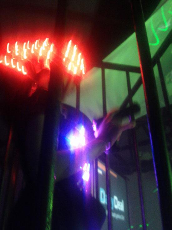 OMClub2011 Lasertänzerin