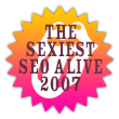 Sexiest SEO Alive badge 2
